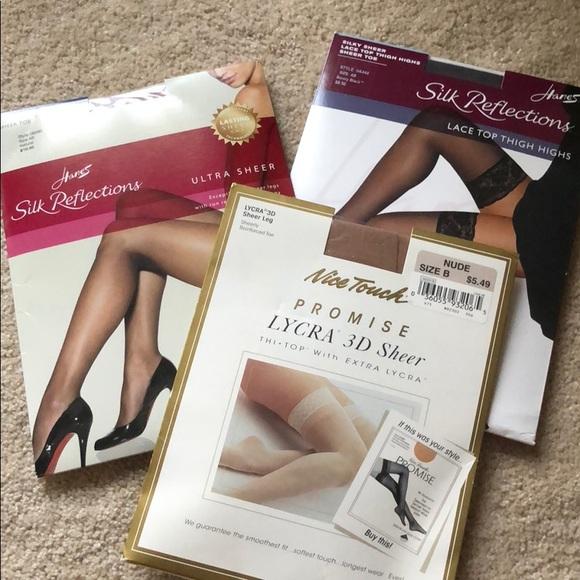 f2aed10e61e Lot of three Silk Reflections stockings